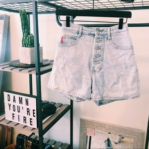 VINTAGE BONGO SHORTS SIZE 4 HIGH WAISTED BUTTONFLY